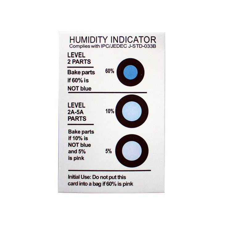 3 dots Moisture sensitive Indicator paper Humidity Cards