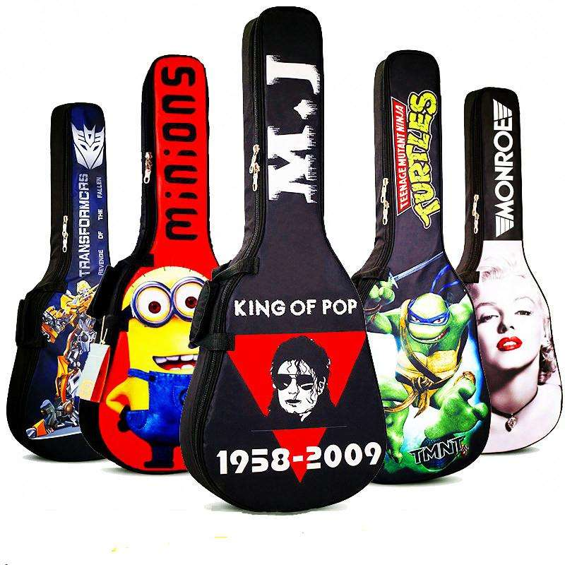 2019 New Design Jackson King of Pop Waterproof High Quality Acoustic Bass Guitar Gig Case Bag Guitar