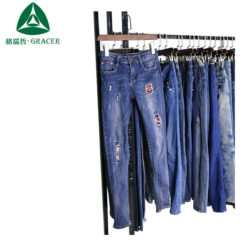 Used Jeans Supplier Second Hand Clothing Cambodia Bulk Ladies Jeans Pants Used Clothing In Bales
