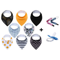 Cotton Baby Bandana Drool Bibs with Teether Infant Triangle Baby Bibs White Plain, Baby Bibs Pack