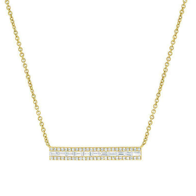 Classical and elegant cz bar genuine gold nepal necklace jewelry
