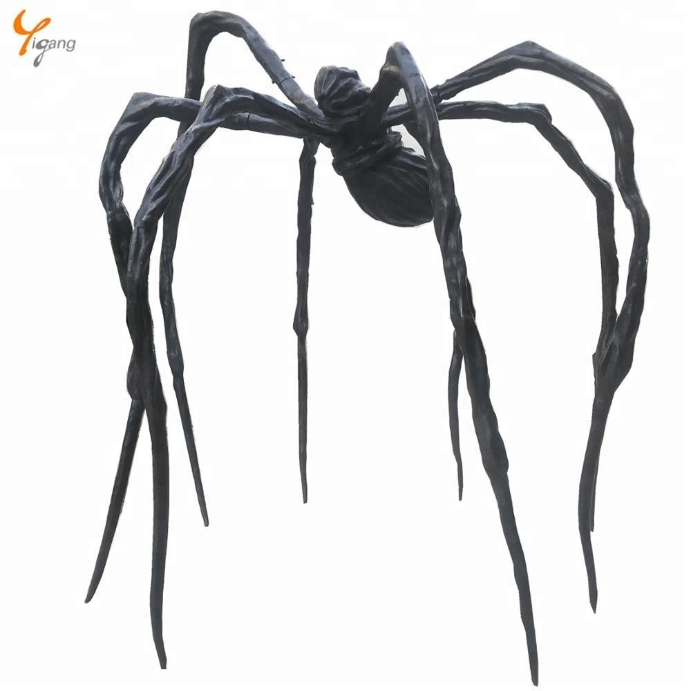 bronze cast statue spider sculpture