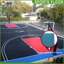 Guangzhou factory supply pp interlocking sport tile for basketball courts