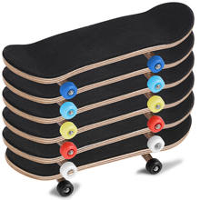 1Pc Maple Wooden+Alloy Fingerboard Finger Skateboards With Box Reduce Pressure Kids Gifts