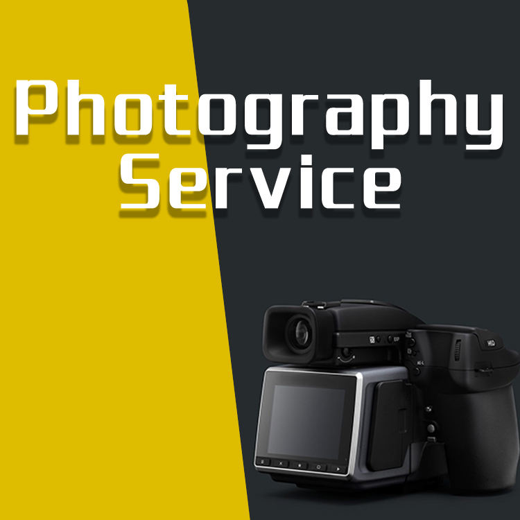 One-stop photography service for your product, used on website business