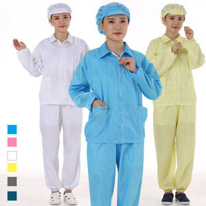 ESD Clean Clothes Suits Antistatic Cleanroom Workwear Stripe ESD Cleanroom Garments Maker