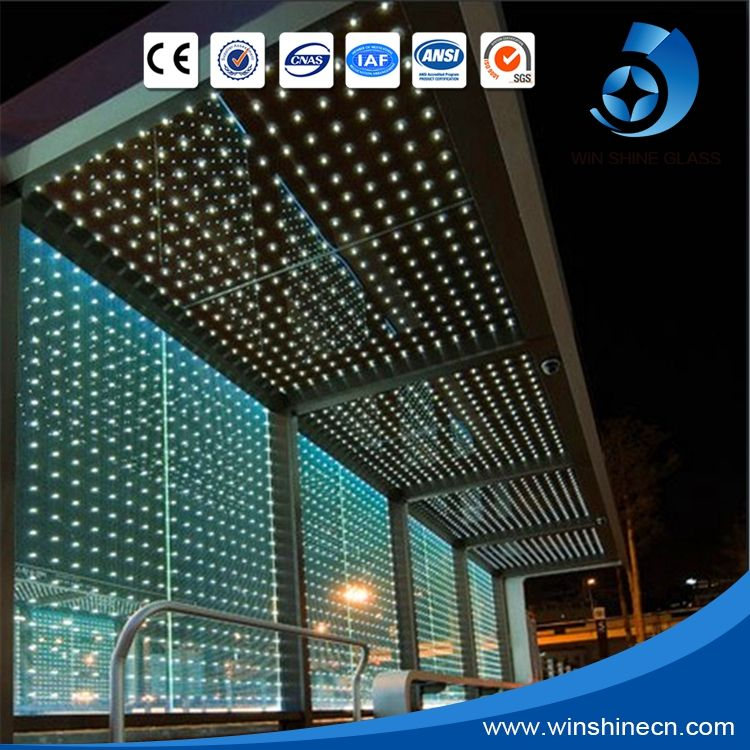 Factory supply LED glass panel, Colorful led light glass