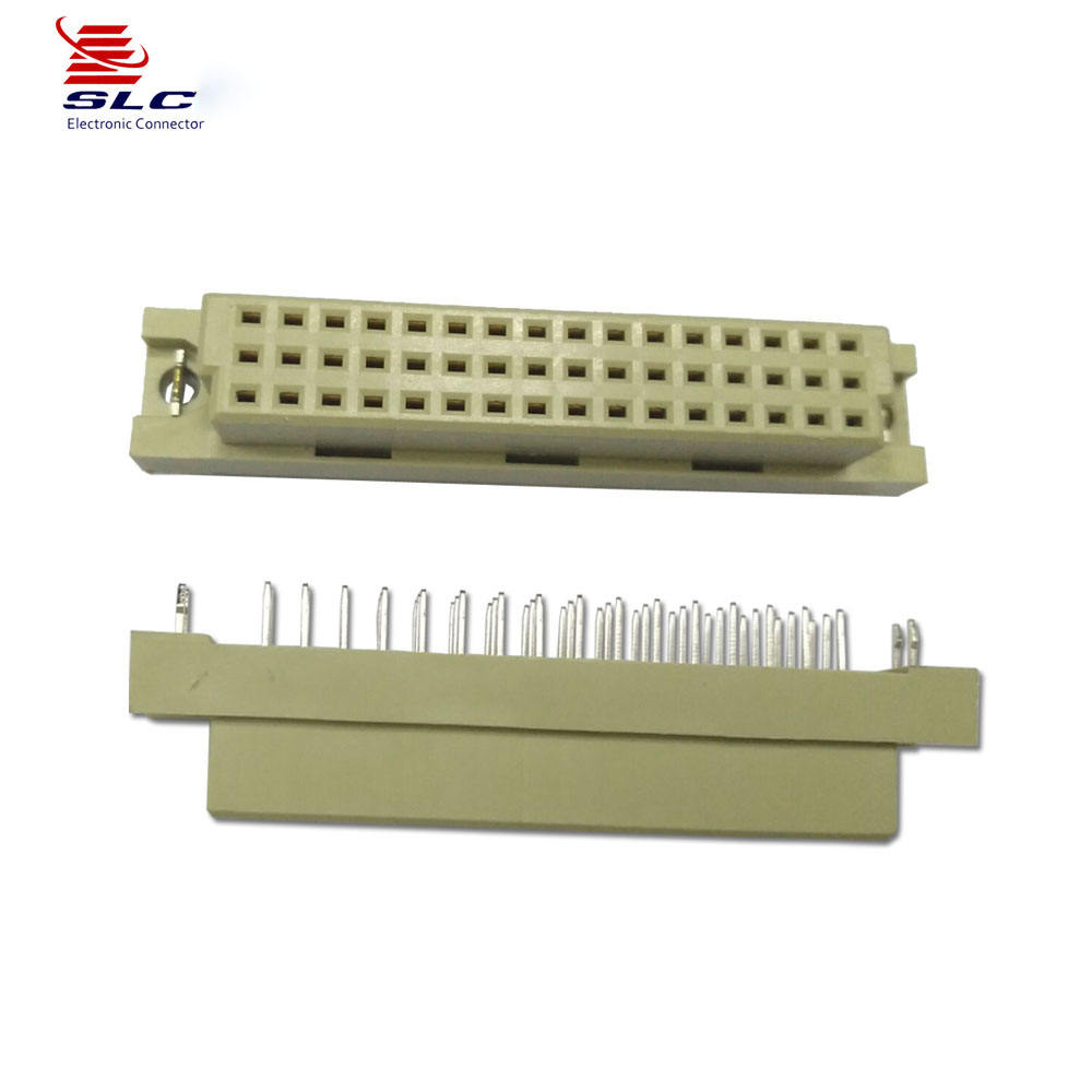 2.54mm DIN 41612 Female Straight Type Grey Color With harpoon Euro Connector