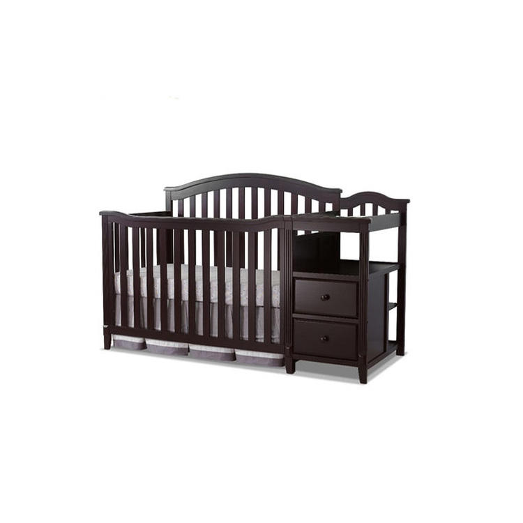 Factory Directly Nursery Baby Furniture Crib 4 In 1 Wood Convertible Crib