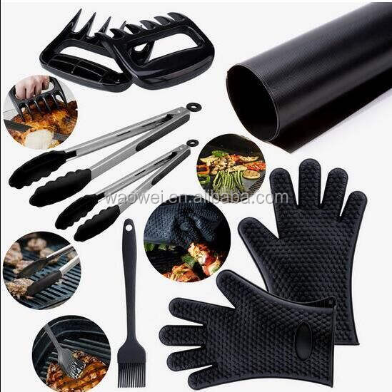 Uses Smoking Grilling Silicone BBQ Gloves Grill Set and Kitchen Tools