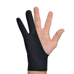 drawing glove artist glove for any Graphics drawing Tablet Black 2 finger anti-fouling,both for right and left hand