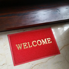 Hot selling welcome design foam rubber foot mat