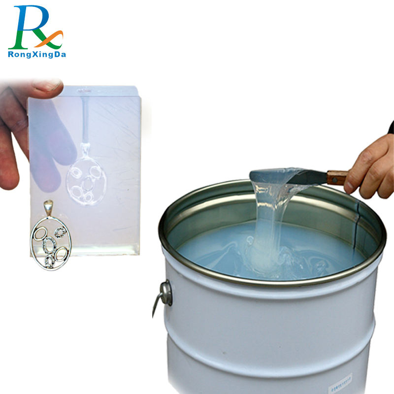RTV2 transparent Liquid silicone rubber molding for jewelry jewellery resin mold make
