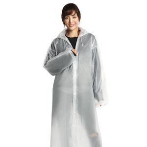 Fashion Outdoor Travel Recycled Waterproof Adults Women Mens Rainwear Transparent Long EVA Rain Coat Eva Rain Poncho Raincoat