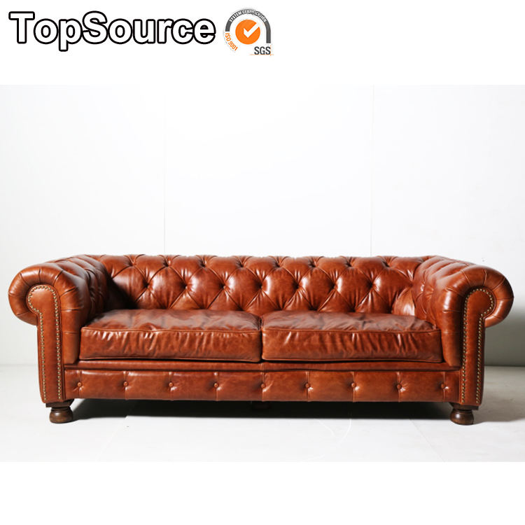 2019 Latest Wholesale Modern Designs Living Room Chesterfield Leather 2 Seating Sofa Furniture