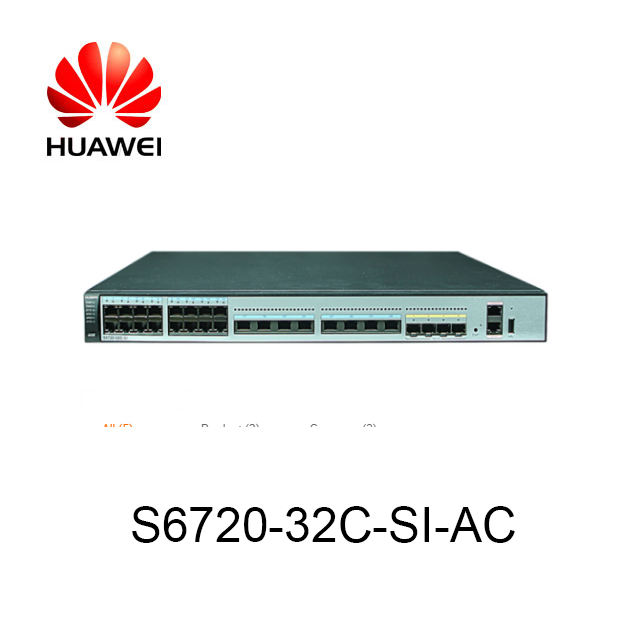In Stock Cheap 24 port SFP 10G Switch Price Huawei S6720-32C-SI-AC