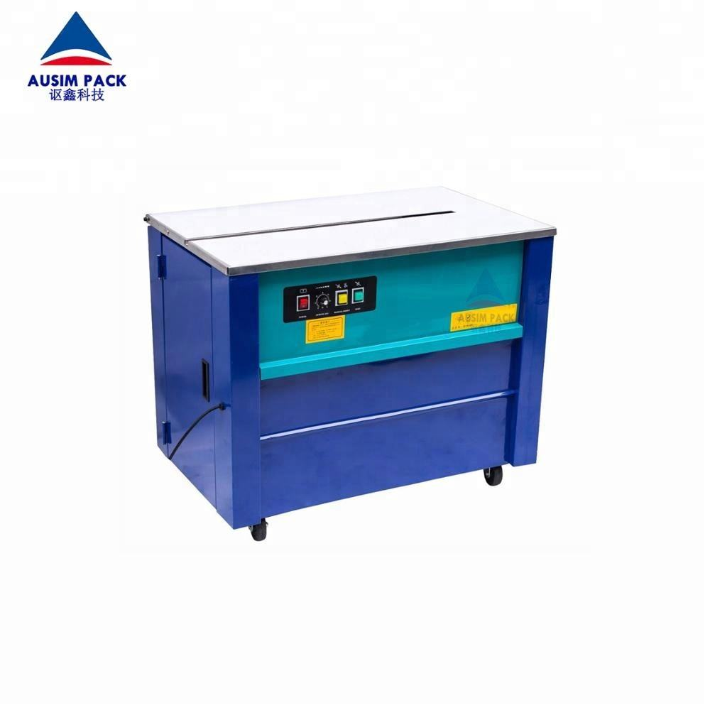 High Quality Grade pp 9/12/13/15mm strips width belt box strapping machine semi automatic type