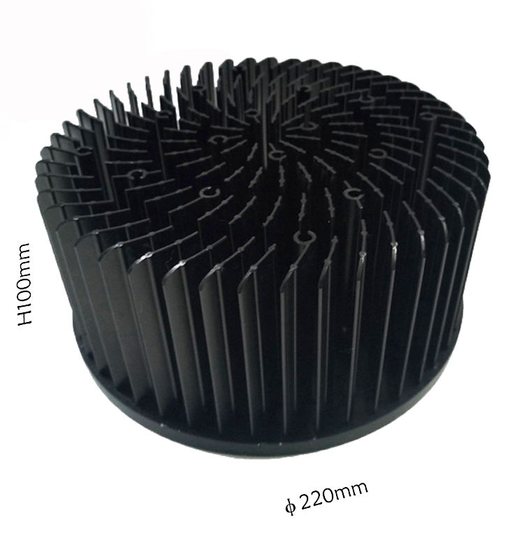 Circular 200Mm Heatsink To 220 Usa,Electronic 150W Cold Forged Led Heat Sink Manufacturers