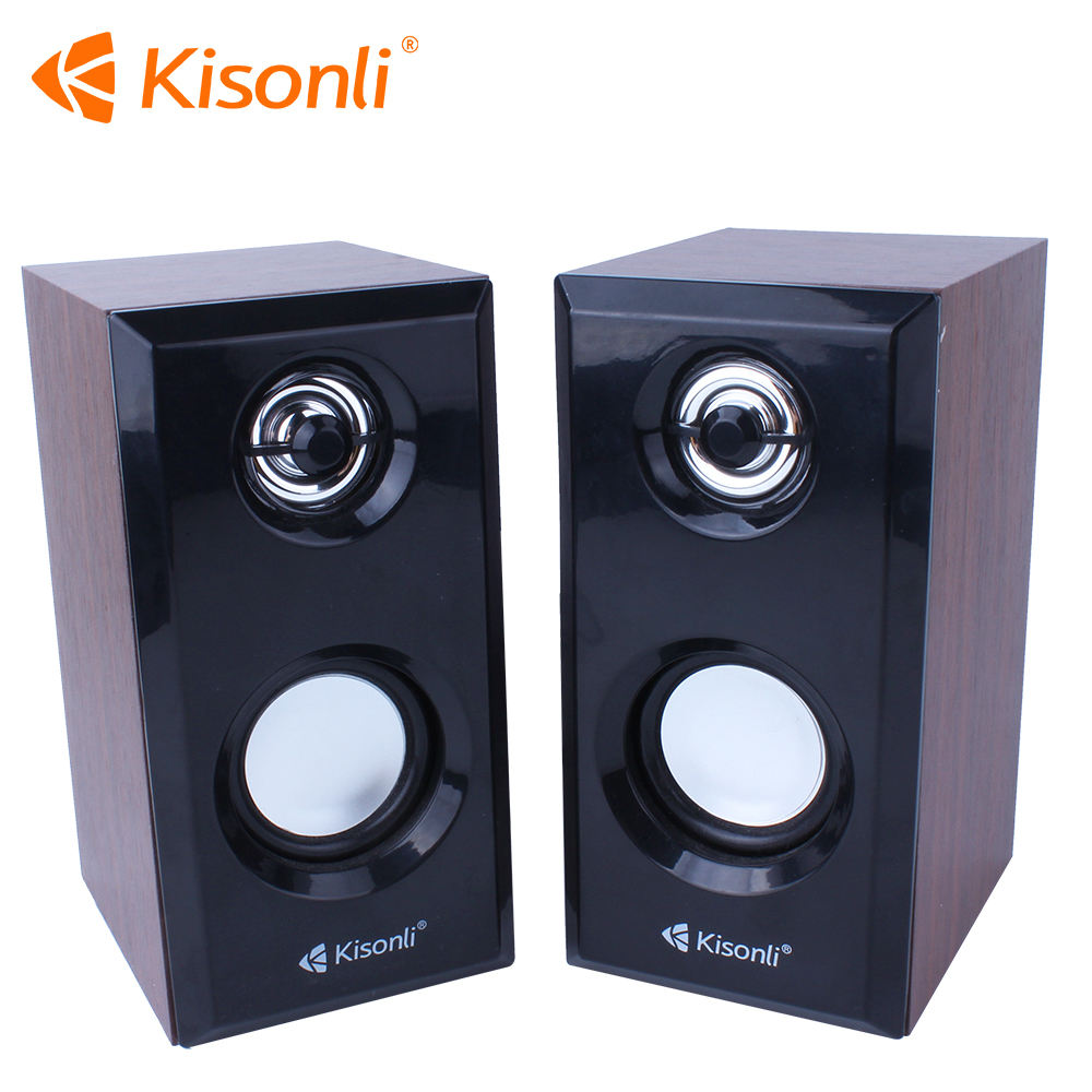 Profesional Speaker Komputer Kayu Kotak Suara, USB 2.0 Mini Audio Speaker Multimedia