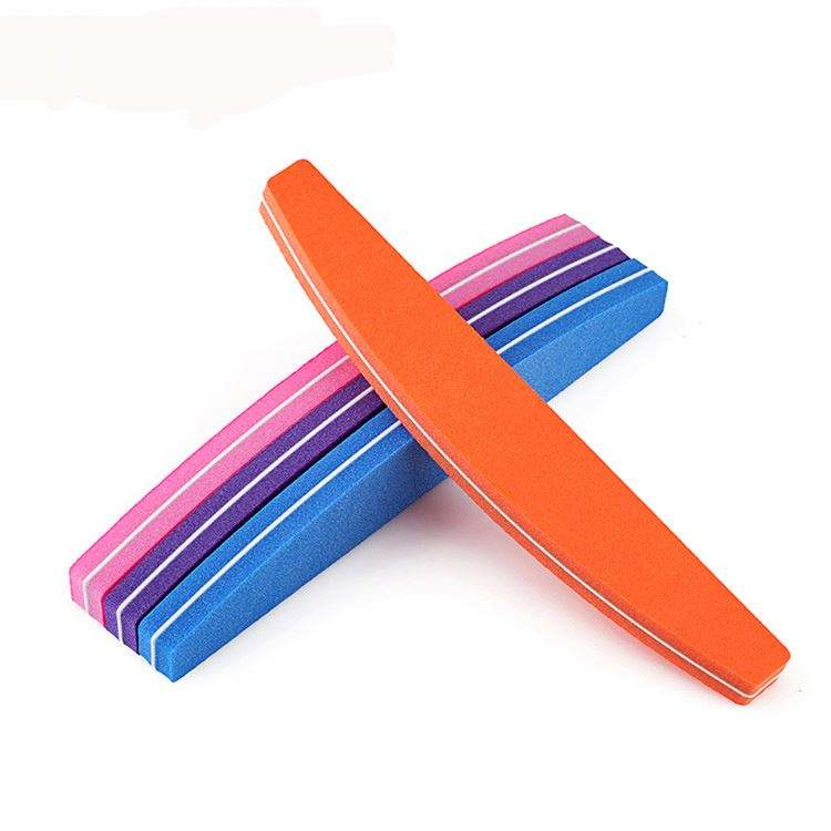 Latest arrival nail art manicure polishing using solid color double sides sponge nail file