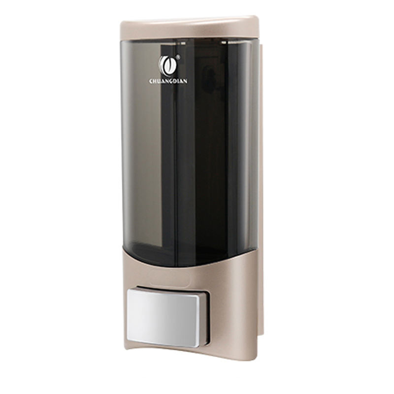 Single Plastic Wall Mounted liquid Soap Dispenser for hotel