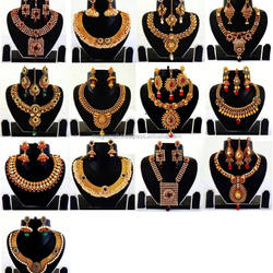 Indian kundan polki jewellery - Antique indian bridal jewell