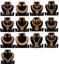 Indian kundan polki jewellery - Antique indian bridal jewellery - one gram gold jewellery - Heavy Gold plated jewelry sets