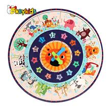 2019 New hottest educational wooden number clock toy for kids W14K057