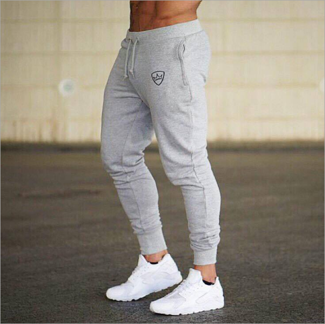 Wholesale Mens Cotton Gym Training Fitness WIth Logo Quick Sweatpants Tie-up Pants Gym Men Joggers