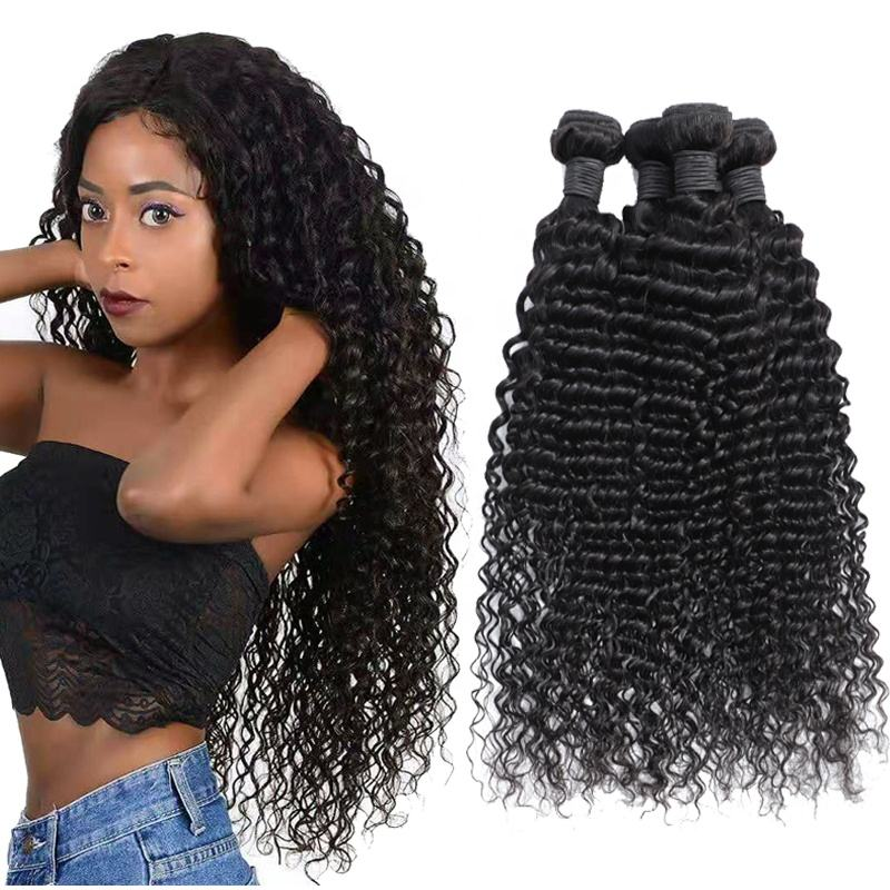 wholesale virgin hair vendors deep wave hair weave bundles with closure hair extension