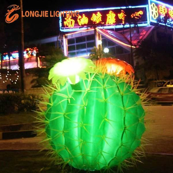 artificial lighted cactus