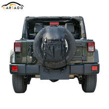 Cartaoo Multi-Pockets Backpack Cargo Bags Spare Tire Tool Storage Organizers For Jeep Wrangler JK TJ YJ