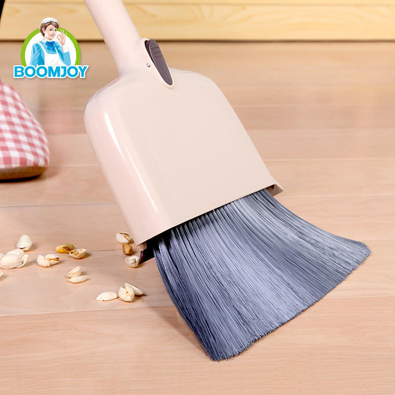 BOOMJOY Household Cleaning Brush Set Y3 Multi use Folding Broom And Dustpan Set Plastic Broom Handle With Broom Brush