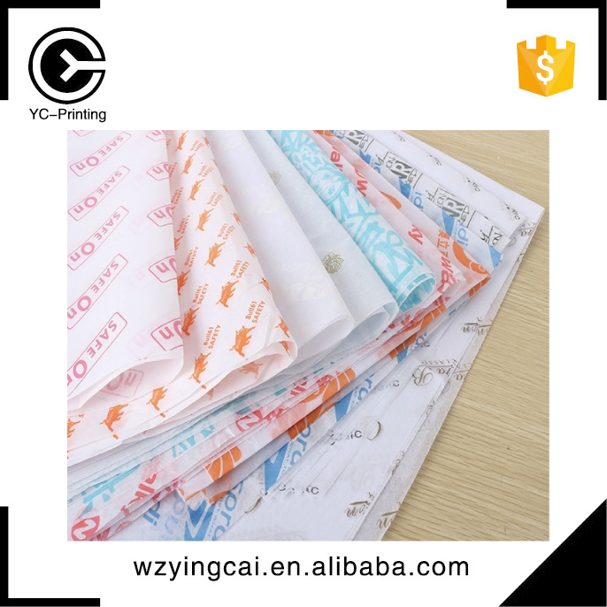 Personalized fold printed cloth packaging wrapping tissue paper