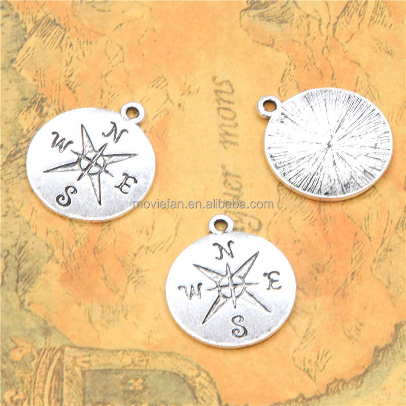 round Compass charm round star compass maritime protection symbol guidance and direction charm 20mm