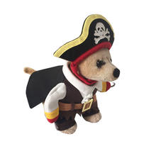 New Funny Pet Clothes Caribbean Pirate Dog Cat Costume Clothes