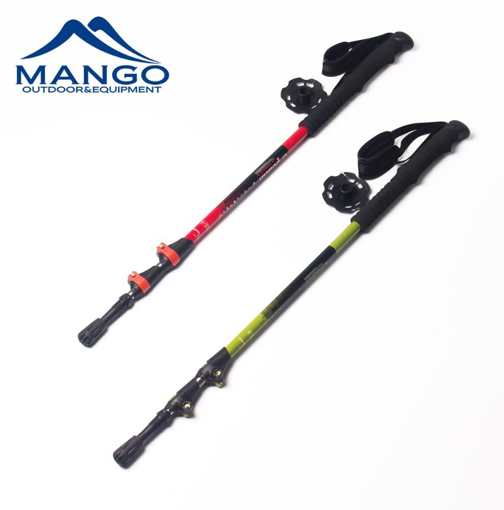Outdoor Sports Long EVA Handle Fast Flick Lock Telescopic Trekking Pole Alpenstock