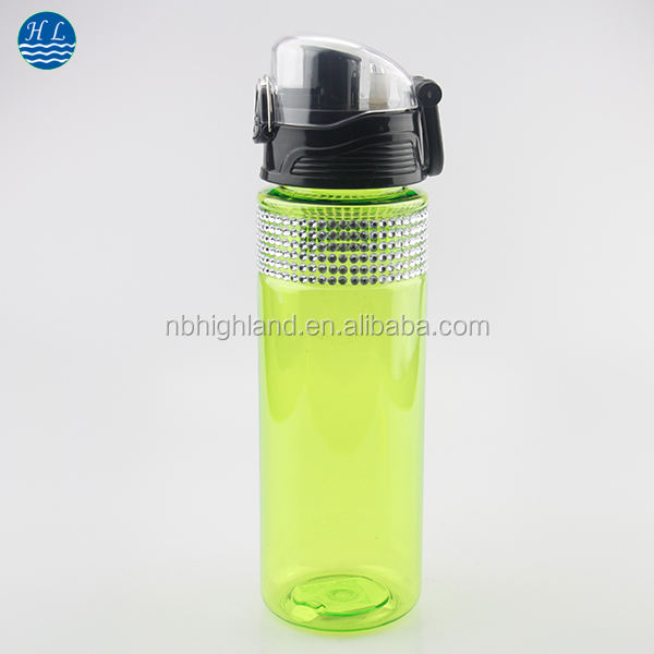 Wal-mart audit Manufacture Hot Sale BPA Free unbreakable Cycling Bike Portable Plastic sports Water Bottle with Button Lid