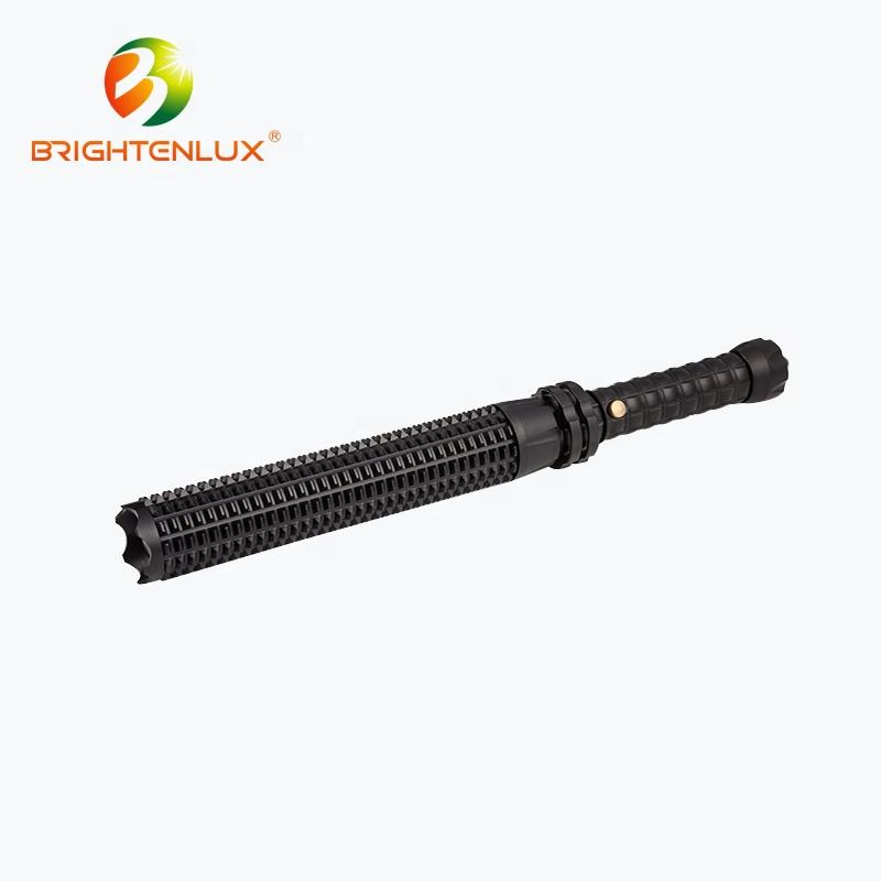 Factory Supply Aluminum Rechargeable High Power 10w 3w led Self defensive Security Police Flashlight with Emergency Hammer