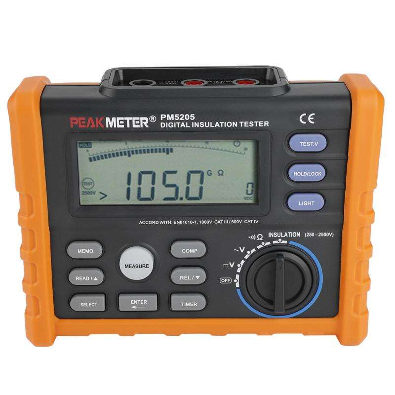MS5205 Digital and Analog Display to 100G Ohm with Multimeter 2500V Insulation Tester
