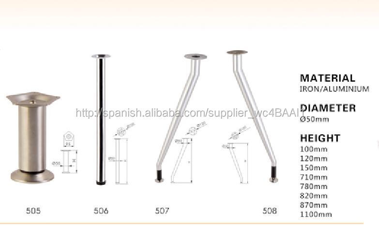ajustable metal legs de la mesa ,leg del mueble