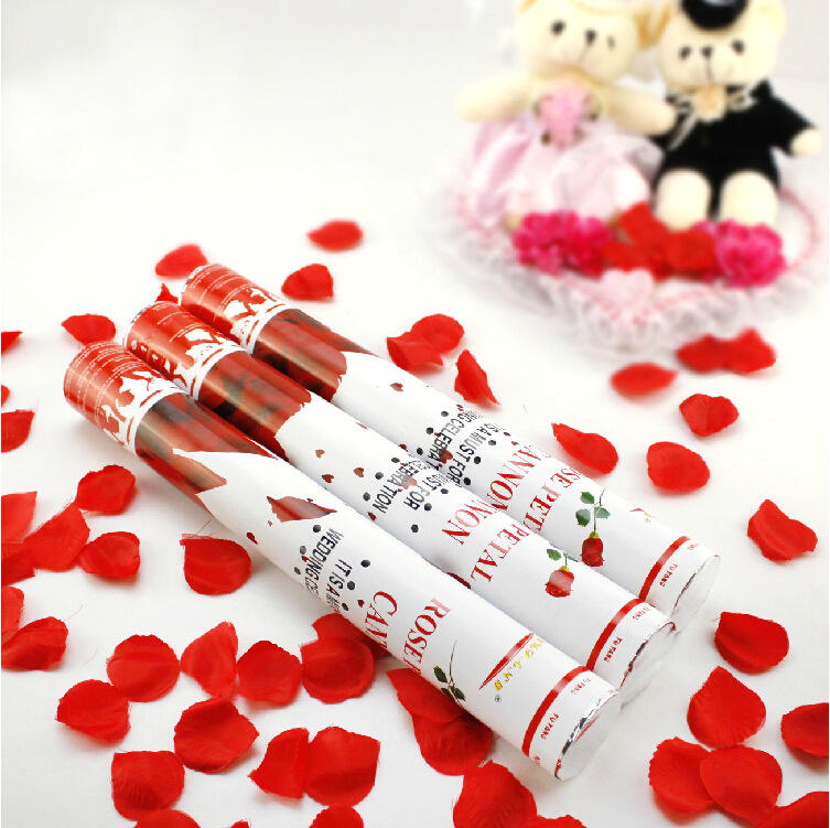 """12 Wedding Popper Cannon Rose Confetti New Years Surprise Party Valentines 24/"""""""