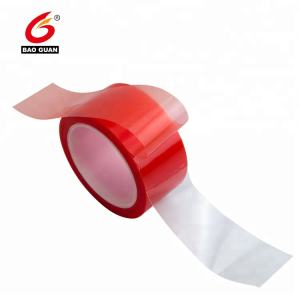 high temperature resistant Acrylic Double side PET tape with red film liner