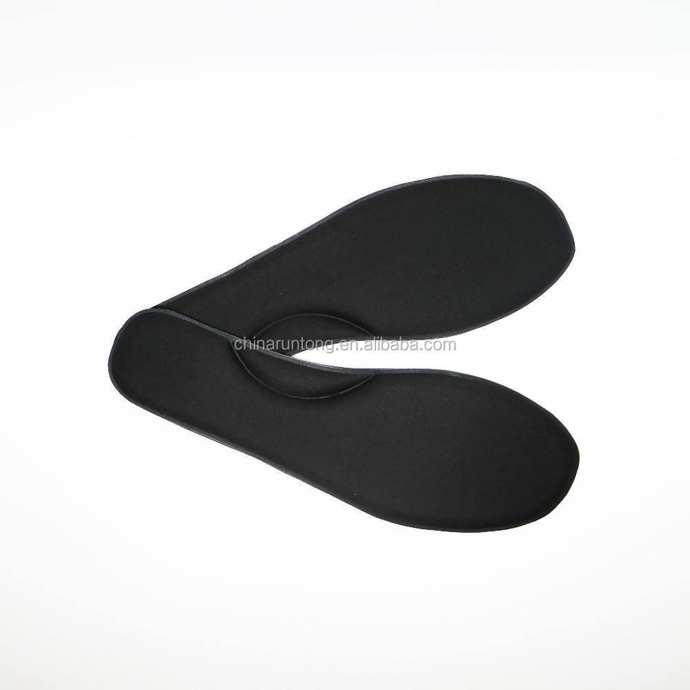 Black fiber surface arch support foam rubber metatarsal sport insole