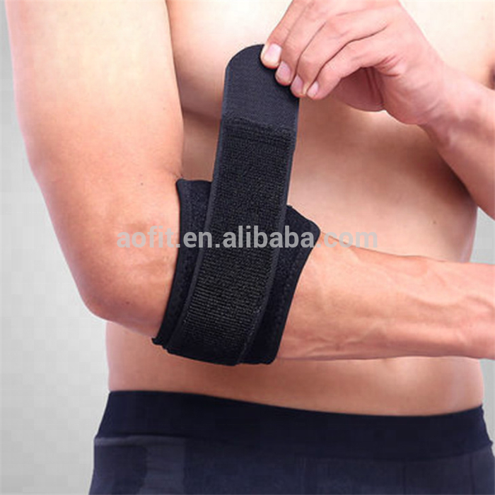 Adjustable Elbow strap Forearm Compression Support Pad & Sweatband Sport Protection