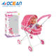 High quality Lovely baby doll stroller toy with 16 inch baby doll