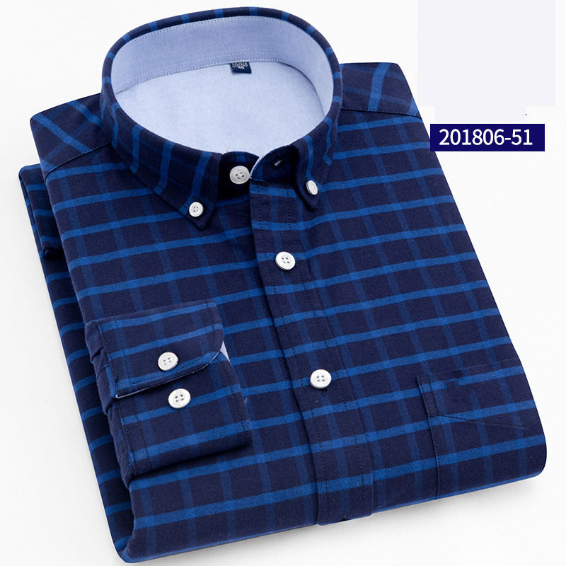 Latest Designs Fashion Men Fancy Long Check Cotton Shirt for Men
