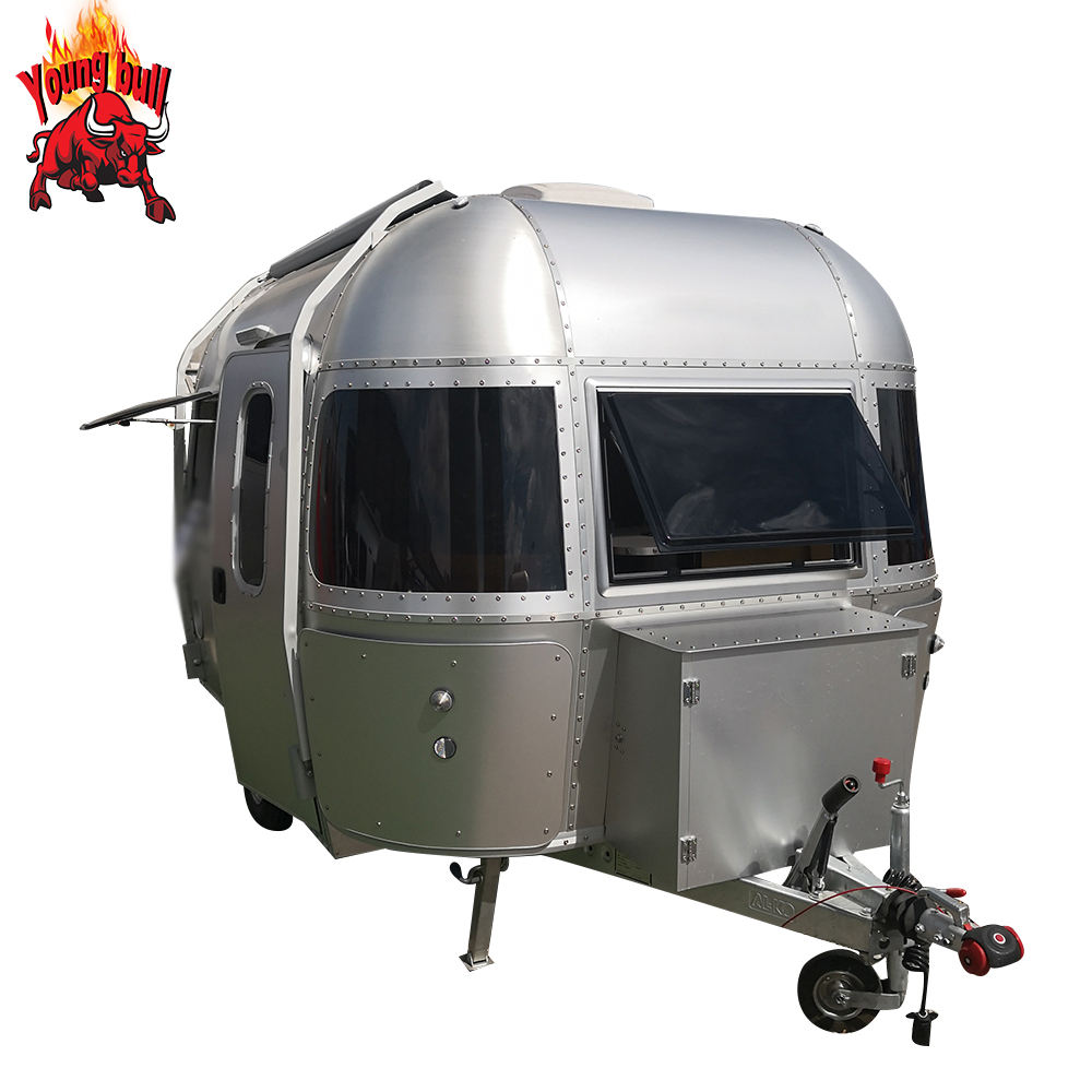 Hot sale New Style Mobile Aluminium Airstream Travel Trailer / RV / Caravan for sale