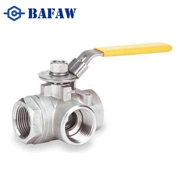 Stainless Steel 3way Ball Valve 1000wog