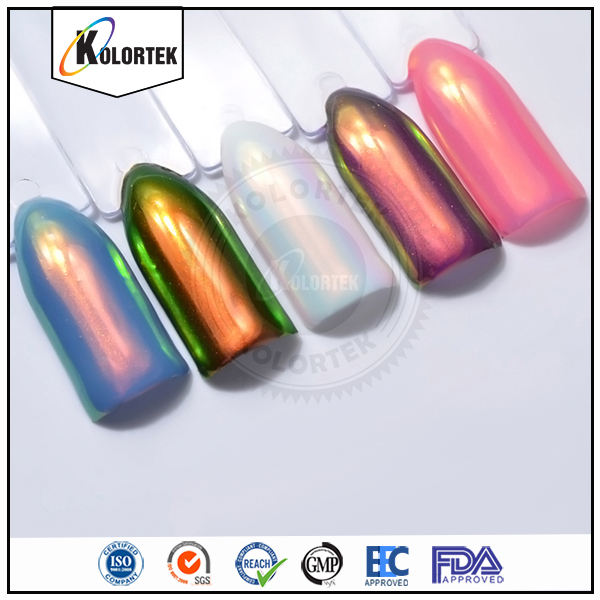 New Product Rainbow Mirror Aurora Effect Powder Pigment For Nails